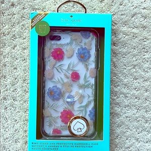New Kate spade iPhone 6 7 8 plus case with ring